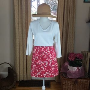 J. Crew 100% cotton skirt with side zipper size 6